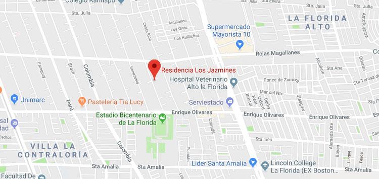Mapa Hotel Clínico Los Jazmines